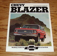 Original 1974 Chevrolet Blazer Sales Brochure 74 Chevy