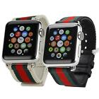 Sports Canvas Wristwatch Band Strap Bracelet For Apple Watch iWatch 38mm/42mm