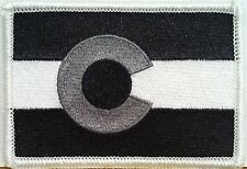 COLORADO STATE Tactical Military Flag Embroidered Iron-On Patch Biker Emblem #01