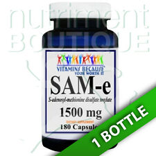 SAM-e 1500mg 180 caps (ADENOSYL-METHIONINE DISULFATE TOSYLATE) by Vitamins Bec
