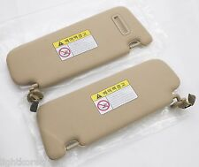 Beige Color Genuine Inner Sun visor LH, RH 2Pcs For Hyundai SONATA 2006 2010