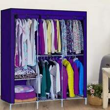"Portable Closet Storage Organizer Wardrobe Clothes Rack W/ Shelves 63"" Home"