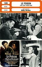 Movie Card. Fiche Cinéma. Le poison. The lost week end (U.S.A) Billy Wilder 1945