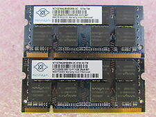 Nanya 2GB 2 x 1GB PC2-5300S DDR2 667 SODIMM Non-ECC Unbuffered Laptop Memory Kit