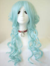 NEW Pastel Green Ringlet Lolita Harajuku Fashion Cosplay Wig Bizarre Wigs UK