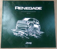 2016 Jeep Renegade 52-page Original Sales Brochure