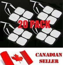 20 Pack Tens 3000 7000 Electro Estim Pads Electrodes Massage Therapy Pin Style