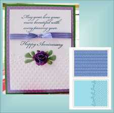 Sizzix Embossing Folders FLOURISH DOTS and RIBBON SET 656980 Wedding Anniversary