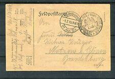 Feldpostkarte vom 01.02.1915 Leichte Munition Kolonne - b1481
