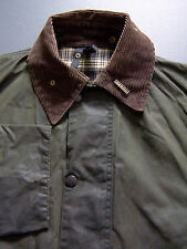 BARBOUR A200 BORDER WAX JACKET C42 107cm CLASSIC FIT OLIVE GREEN VINTAGE BBS729