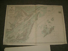 Vintage Admiralty Chart 3876 CHINA SEA - CAM PHA to LO CHUC SAN 1947 edition