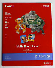 Canon OEM PPM 8.5x11 matte photo printer paper for MX300 MP190 iP1800 iP2600