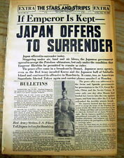 5 best DayByDay 1945 Stars & Stripes newspapers ATOM BOMB to SURRENDER of JAPAN