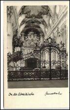 """Kirche AMORBACH um 1950 Innenansicht """"In der Abteilkirche"""" Church Bavaria Bayern"""