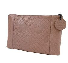 BOTTEGA VENETA Intrecciomirage Leather Butterfly Clutch Pouch Bag, 301498 6322
