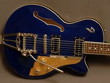 Duesenberg Starplayer TV Blue Sparkle with Hard Shell Case    FREE SHIPPING
