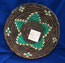 "Small Handwoven Basket Collectible Decorative New Pakistan 8.5x2.5"" S-16"