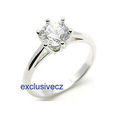 Valentine Sale Special~~3/4 Carat White Gold Plated 18K GP Ring Cz Size 7