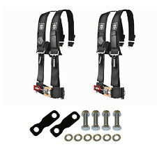 "Pro Armor 4 Point Harness 3"" Pads Seat Belt Pair With Mount Kit Black YXZ 1000R"