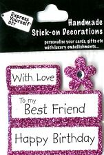 Happy Birthday With Love Best Friend DIY Greeting Card Toppers