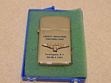 VINTAGE PARK LIGHTER ADVERTISING LIBERTY INDUSTRIAL FINISHING CORP. NEW YORK.