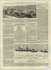 1892 American sollievo per FAME Russia NAVE A VAPORE INDIANA Parnell-wood suit
