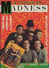 MADNESS - A TOUCH OF MADNESS - 1982 DOUBLE SIDED FOLDED POSTER MAGAZINE - SUGGS
