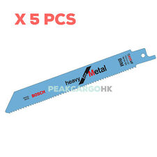 5pcs Bosch Reciprocating Sabre BIM Saw Blades Heavy for Metal 150mm 10/14 TPI
