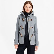NWOT NEW J Crew Melton Wool Classic Duffle Toggle Coat - Grey - Sz 4
