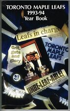 1993/94 Toronto Maple Leafs NHL Yearbook Media GUIDE
