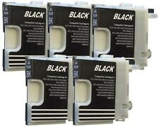 5 Cartucce per Brother dcp365cn DCP dcp375cw 165c mfc250c dcp195c BLACK