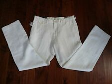 NWT $145 POLO  RALPH LAUREN WHITE 100% LINEN PANTS SZ 38-32