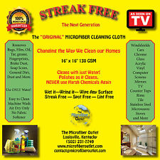 Streak Free White Microfiber MultiPurpose Cleaning Cloths As Seen On TV 3 Pack