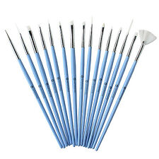 Winstonia 15pc Nail Art Brush Pen Kit SOMETHING BLUE Tool Set Acrylic Design