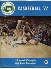 High School Basketball Program Washington Prep WIAA 1977 State AA HTF Mount Si