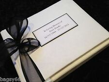 Large Personalised Book of Condolence In Loving Memory Funeral Message 5 colours