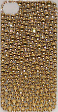 Iphone 4 4S Gold Bling Crystal Rhinestone Decal Sticker Vinyl Skin