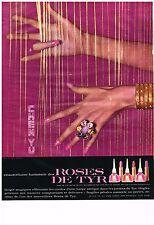 PUBLICITE ADVERTISING  1963  CHEN YU  cosmétiques vernis à ongles ROSES DE TYR