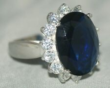 GB Size: P, Commemorative Royal Engagement Ring [ 925 Silver & Cubic Zirconia ]