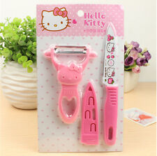 New Pink Hello kitty Paring knife suit kitchen ware Cute cartoon KT knife