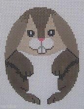 Handpainted Needlepoint Canvas Susan Roberts Easter Egg Bunny 489