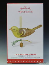 NEW 2015 Beauty of Birds Lady Western Tanager HALLMARK KEEPSAKE ORNAMENT 2016