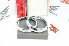 Honda CB 600 Hornet CB 750 Seven Fifty Chrome Ring Set Gauge Cover Genuine New