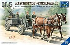 Riich RV35012 1/35 German Horse Drawn MG Wagen w/Zwillingslafette 36 (3 Figures)