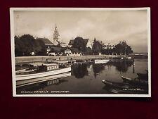 Ansichtskarte Friedrichshafen am Bodensee - Gondelhafen, Echtfoto 1928 gelaufen