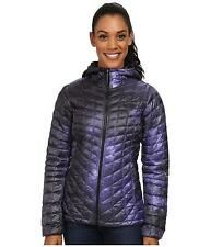 WOMENS THE NORTH FACE THERMOBALL HOODIE INSULATED HOODED JACKET PURPLE SIZE L