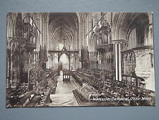 R&L Postcard: Worcester Cathedral Choir West, Frith