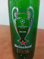 Uefa Champions League Final Bottle Heineken Beer Milan 2016 Atletico Madrid Real