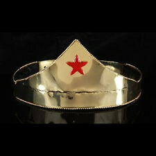Gold Metal Star Crown Adult Woman Costume Wonder Headwear Halloween Accessory
