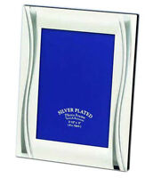 """Two Tone Silver Plated Photo Picture Frame 4x6"""", 5x7"""", 6x8"""" & 8x10"""""""